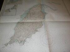Antique Vintage US Navy Nautical Chart IRISH SEA,,Isle of Man