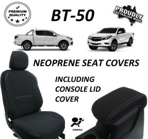 MAZDA BT-50 MK1  FRONT & REAR NEOPRENE SEAT COVERS FULL COVERAGE-MAP POCKETS X 4