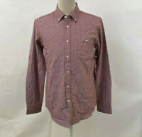 Obey Men's LS Woven Button Down Shirt Wiseman Burgundy Size M NWT Shepard Fairey