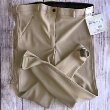 TUFF Rider BREECHES 34 New $50 Front Zip Tan Low Rise