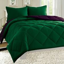 Empire Reversible 3pc Comforter Set Microfiber Quilted Bed Cover All Size Option