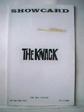 THE KNACK Playbill GEROME RAGNI / CAROL BOOTH / FREDERICK COMBS NYC 1965