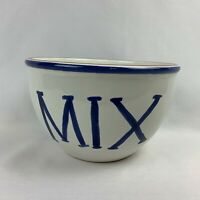 Large Tru Chef Stoneware Mixing Bowl - Blue Rim and Text - Portugal
