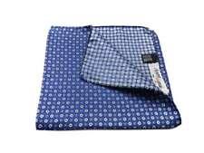 Elegante fazzoletto uomo blu marino seta taschino abito