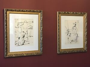 2 x Picasso Lithographs, framed and ready to hang