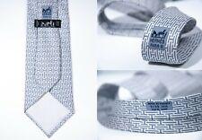 Men's HERMES 100% Silk Tie Model 5139 HA H All Over Print Geometric