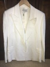 Womans GIANFRANCO FERRE Italy White Color 100%Viscosa RayonJacket Size 42