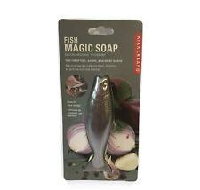 Kikkerland Stainless Steel Fish Magic Soap - Odor Remover