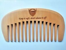 HANDMADE Wood comb,peach wood,wide toothed comb,beard for Men gifts