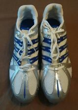 ADIDAS Men's 114369 Cosmos 2005 Track & Field Shoes, White/Blue/Silver, Size 11