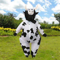 Adults Cow Inflatable Costume Blow Up Xmas Halloween Fancy Dress Outfit Funny