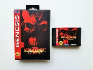 Mortal Kombat II 2 Unlimited Sega Genesis (Playable Bosses - Secret fighter) USA