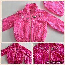 H&M Girls Pink Spring Raincoat Detachable Hood 2-3 Years Polka Dot Pockets Cute