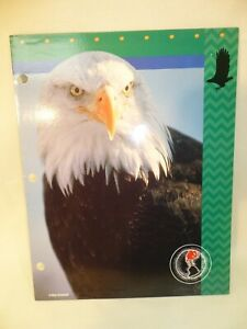 Mead ZOOSTERS 2-Pocket Folder Portfolio Bald Eagle 1997 Trapper Keeper 3 ring
