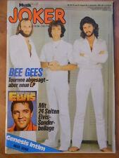 Musik JOKER 18 - 1978 ** BEE GEES Genesis Elvis Presley Donna Summer Fredl Fesl