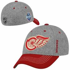 Detroit Red Wings NHL Winter Classic Reebok Flex Fitted Cap Hat Gray/Red - L/XL