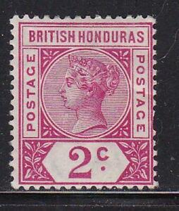 Album Treasures British Honduras Scott # 39  2c  Victoria  Mint Hinged