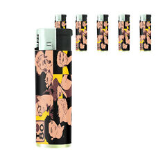 80's Theme D6 Lighters Set of 5 Electronic Refillable Butane Pop Stars
