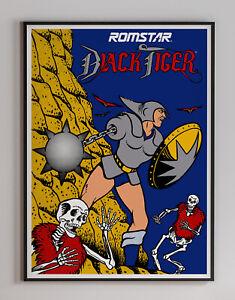 Black Tiger 1987 Romstar Arcade Video Game Retro Poster 18 x 24 inches