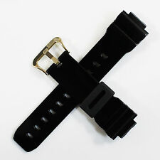 Brand New Casio G-Shock DW6900CB Black Resin Gold 26mm Replacement Watch Band