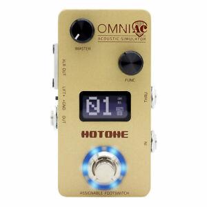 Hotone Omni AC Simulation Guitar Bass Effects Pedal OMP-5