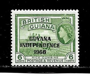 Guyana Stamp-Scott # 3/A60-3c-Mint/NH-1966-Overprinted-OG