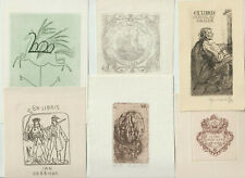 16 Original etching Exlibris by V. artist / Europe
