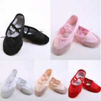 Children Adult Ballet Shoes Canvas Split Sole Dance Shoe Slippers Size 23-45