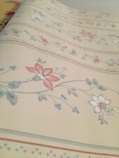 Sunworthy Wall Covering Vintage Wall Paper 2 Rolls Open floral on cream
