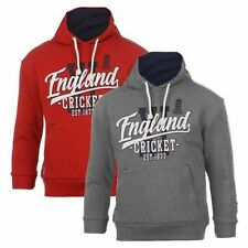 *NEW* ECB ENGLAND CRICKET KIDS 1877 PULLOVER LEISURE HOODIE, Red, Grey Marl