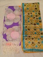 Vintage Women's Silk Scarves Scarf Lot of 2 Designer - VERA NEUMANN & BETMAR