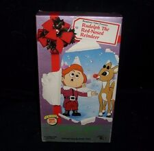 VINTAGE 1989 RUDOLPH THE RED-NOSED REINDEER FULL COLOR VHS KIDS MOVIE TAPE 53 MN