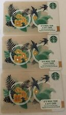 Lot 3 Starbucks ORANGE COUNTY, CALIFORNIA 2017 /2018 gift card set NEW!