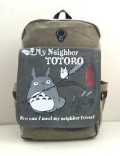 Ghibli My Neighbor Totoro Canvas Fabric Anime School Backpack Rucksack Big Bag