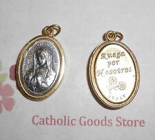 Our Lady of Guadalupe - Gold & Silver Tone Italian 1 inch Medal