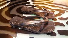 Ipanema Gisele Bundchen Thong Sandals Decent Condition Black Womens Size 37