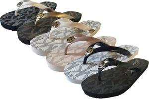 Michael Kors New In Box MK Flip Flop PVC/Jet Set  - Choose Your Size and Color