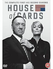 House of Cards Complete Series Collection 1-2 DVD Box Set Season 1 and 2 UK New