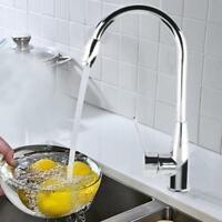 Kitchen Spring Faucet Swivel Sink Bar Pull Out Sprayer Single Hole Mixer Tap USA