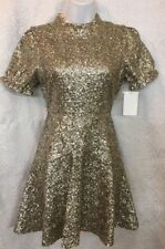 For Love And Lemons Eloise Dress Gold Sequined Party Nwt $583 Size XS