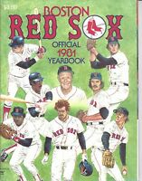 1981 Boston Red Sox baseball yearbook Jim Rice, Carl Yastrzemski, Jerry Remy
