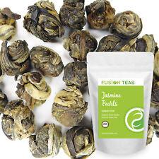 Jasmine Pearls Green Tea - Superior Organic Dragon Loose Leaf - Fusion Teas