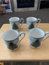 "MIKASA ""CHRISTMAS STORY"" Heritage Cappucchino Coffee Mugs CAB08 SET OF 4"
