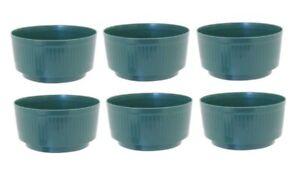 6 x Large Green 24.3cm Round Plastic Garden Bulb Bowl Storage Grow Tub Pot