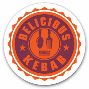 2 x Vinyl Stickers 10cm - Authentic Delicious Kebab Takeaway Cool Gift #7004