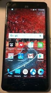 ZTE Grand X 4 Z956 - 16GB - Gray (Cricket) Good Used Fast Ship Cracked Glass