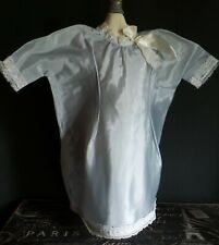 Vintage! Pretty Blue Satin & Lace Dress for Hard Plastic Composition Baby Dolls