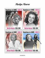 Guinea Marilyn Monroe Stamps 2020 MNH Famous People Celebrities Actresses 4v M/S