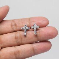 925 Sterling Silver Jesus Cross Earrings With Free Jewelry Gift Box Set