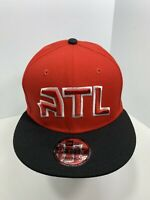 New Era 9FIFTY Red & Black Atlanta Hawks SnapBack Flat Bill Cap!